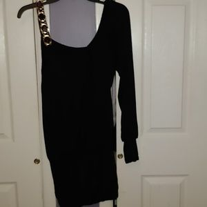 Purple Dress with Beaded Shoulder Strap Nwot